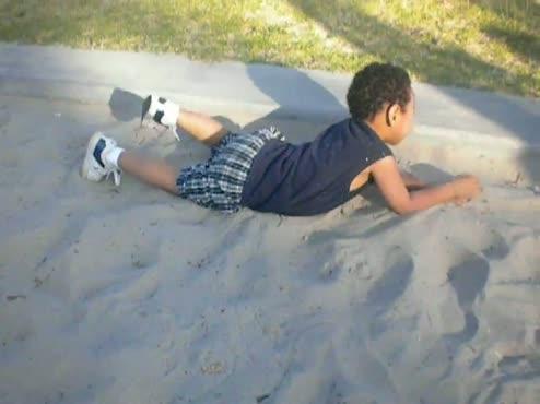 The sand!