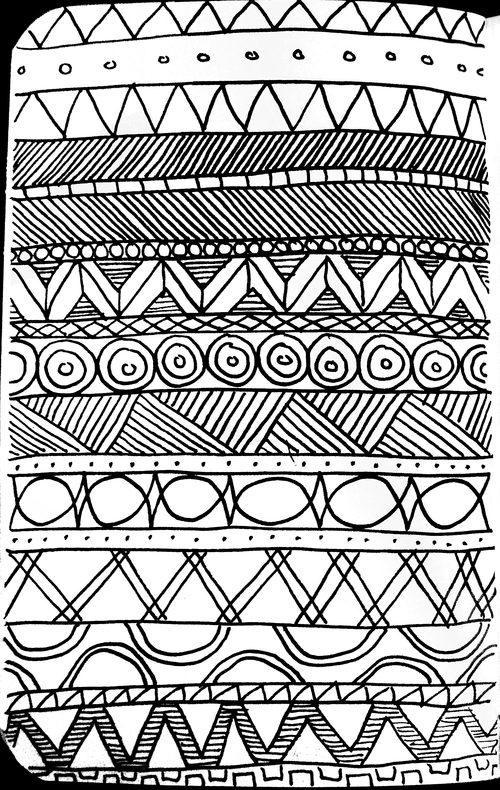 Simple Line Designs Patterns : So i decided to just draw strips of simple line shape
