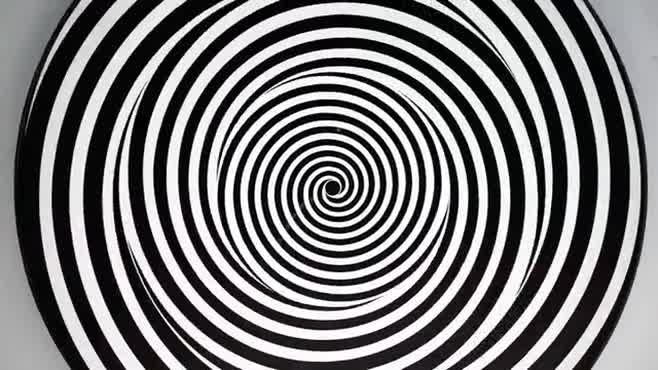 Spinning Spiral Warp Optical Illusion
