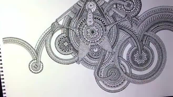 Drawing a huge Mandala