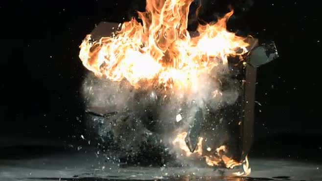 FLAMING TV SMASH (RE: FIRE)