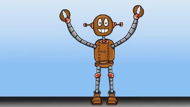 Dancing Robot (no music) - Bumper RE: The Future