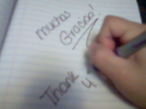 written thank you