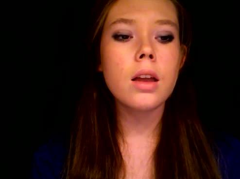 Singing a segment of 'Gravity' by Sara Bareilles