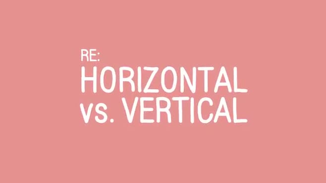 Horizontal vs. Vertical - Title Only