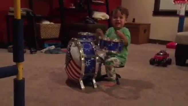2 year old drummer boy