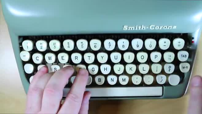 Typing/Typewriter B-Roll
