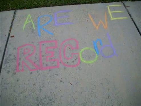 Are We Recording? chalk