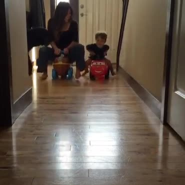 racing cars with my lil man