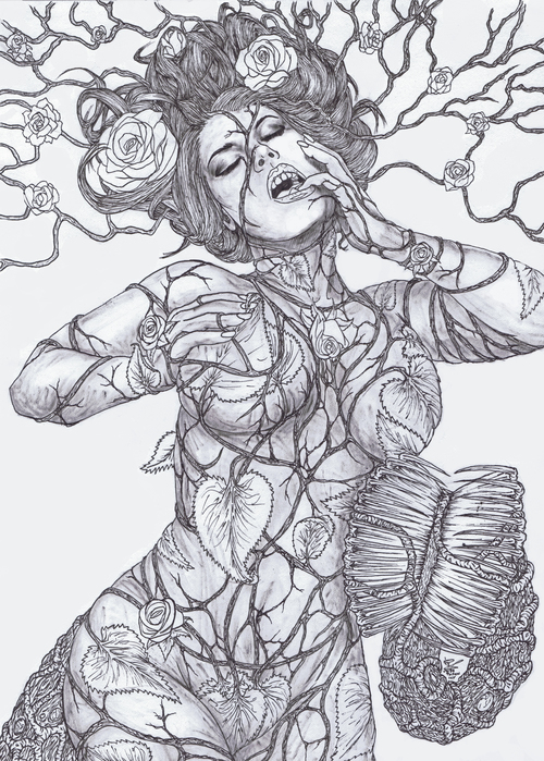 Poison_ivy_black_and_white