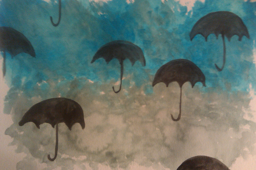 Raining_umbrellas