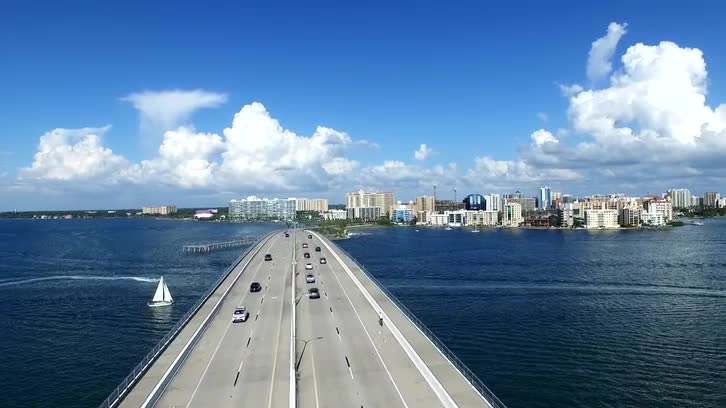 Sarasota Bridge Florida (Drone Shot)