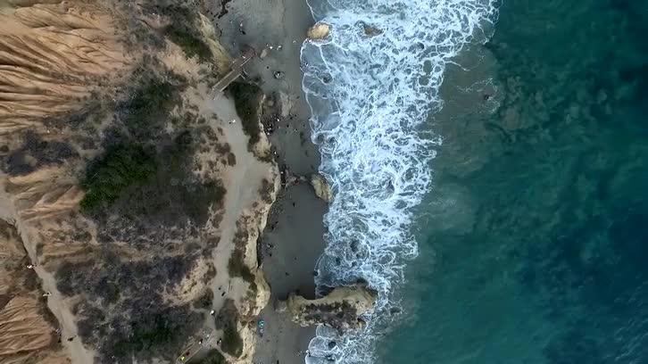 Malibu Beach Drone Shot ( Birds Eye View)