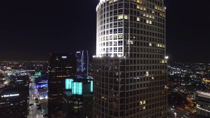 Downtown LA (Drone Shot of 777 Tower)