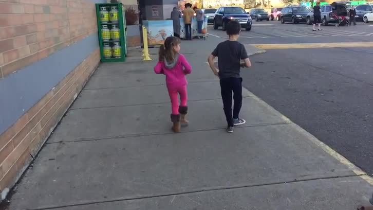 dancing down the road