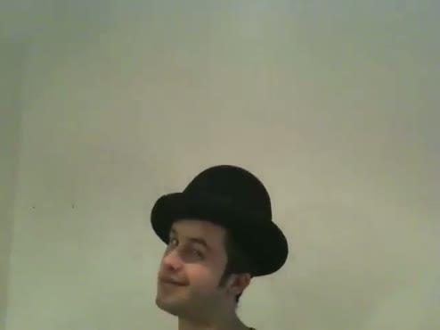 Major Thom's head with many hats!