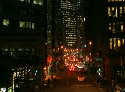 Time Lapse of Downtown traffic @ Night