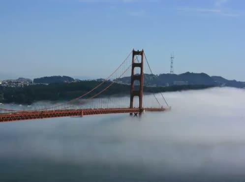 Time Lapse Fog over Golden Gate Bridge