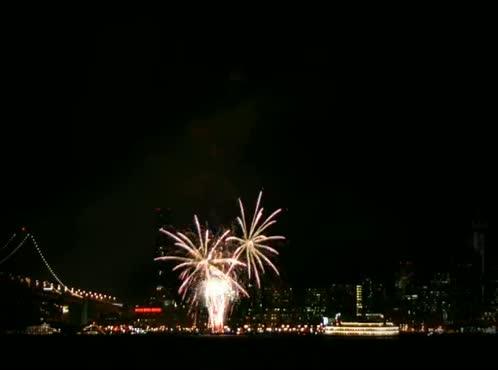 Time Lapse City Fireworks