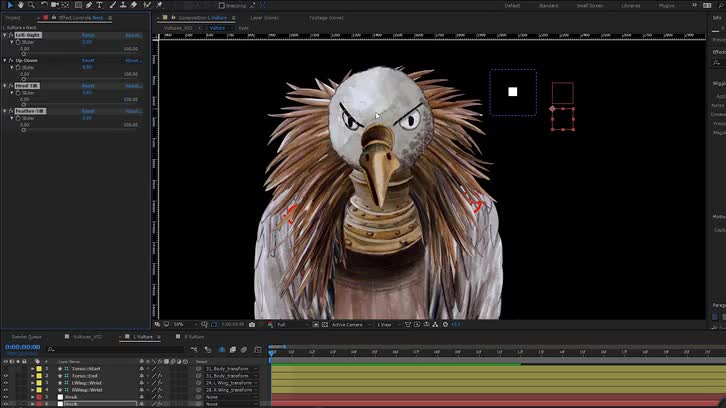 BHS//Vultures - Character Rig (Behind the Scenes)