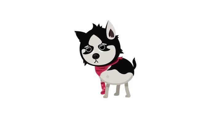 Husky loop (Re-upload with Alpha channel)