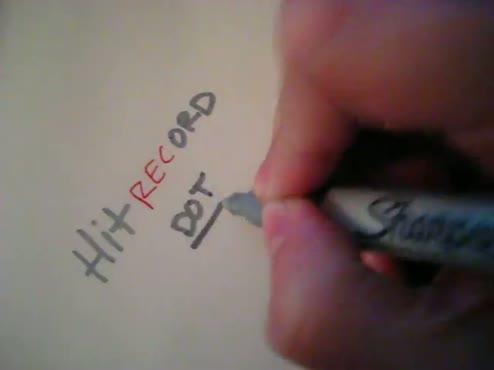 hitrecord.org - 2 sec. time lapse.