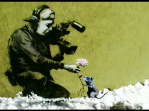 Banksy with Time Lapse beginning
