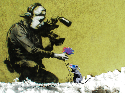 Banksy3dflower