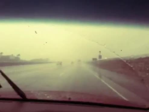Driving in the Rain -Video Footage